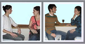 Reading Body Language: Flirting Cardss